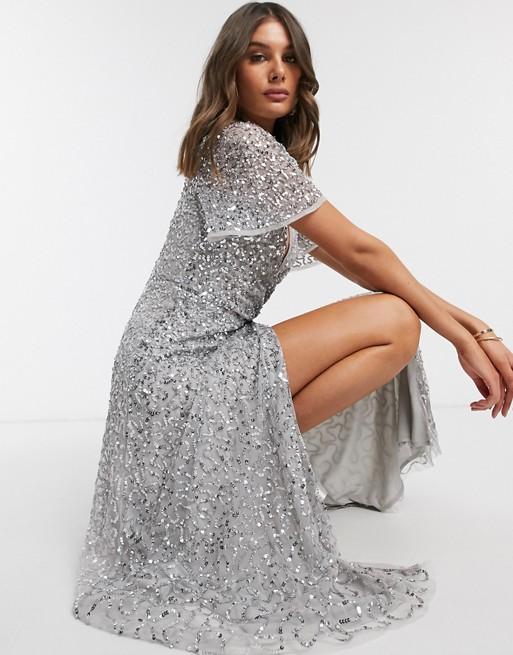 jurk met glitter voor bruiloftsgasten