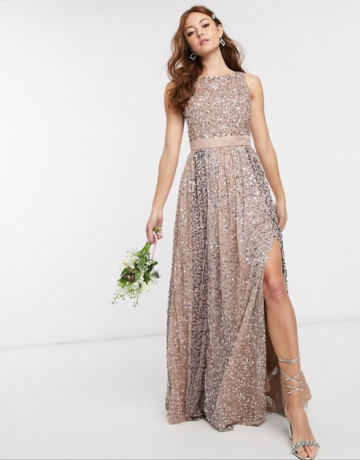 Lange jurk met lovertjes