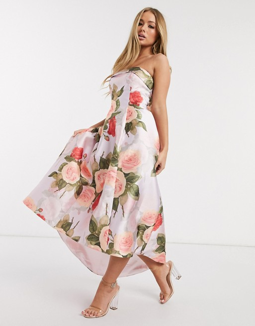 zomerse jurk met bloemenprint