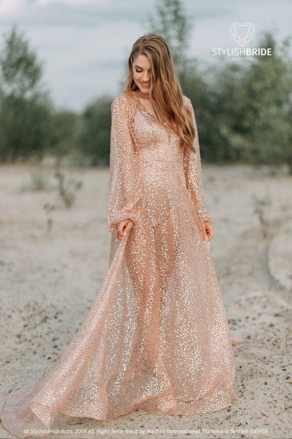 Vintage glitter trouwjurk