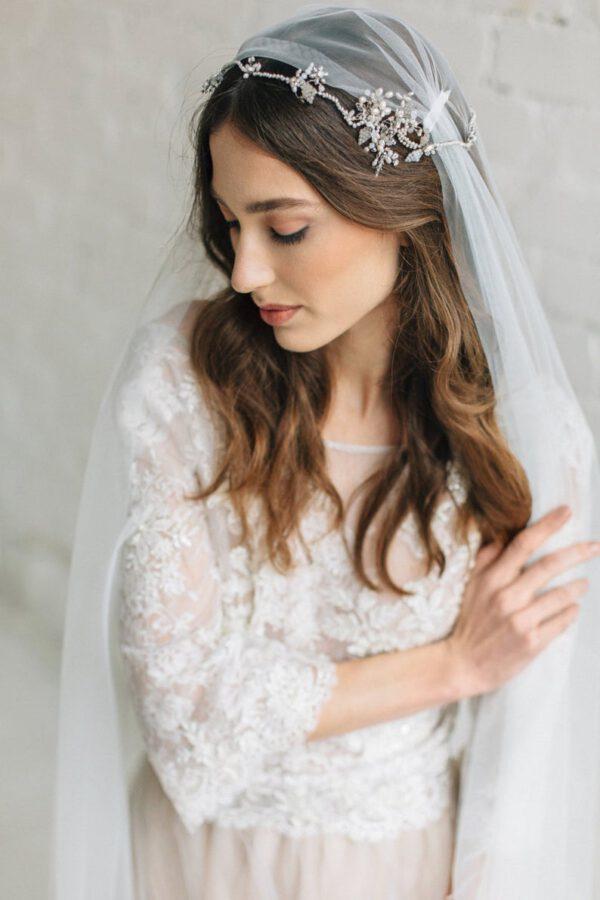 Bruidskapsel met juliet sluier