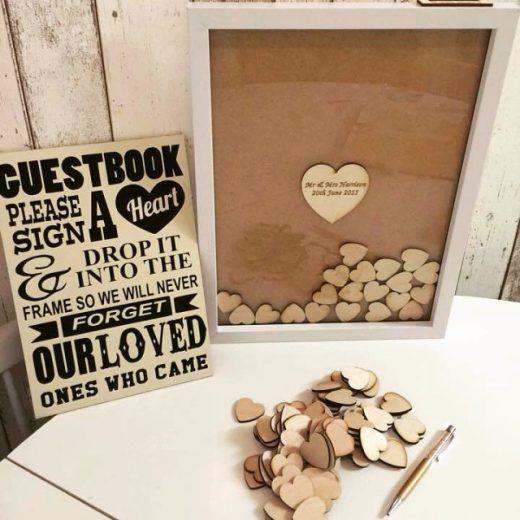 DIY gastenboek met hartjes