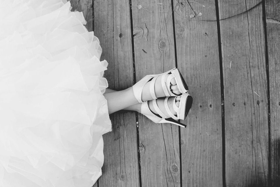 platte schoenen op je bruiloft