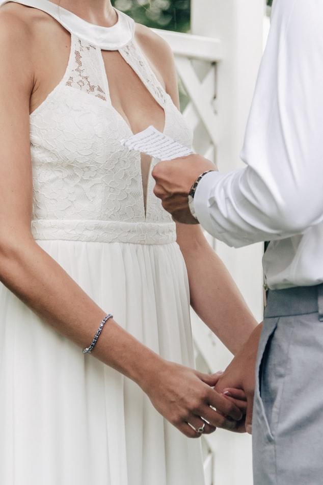 trouwgelofte tijdens de bruiloft