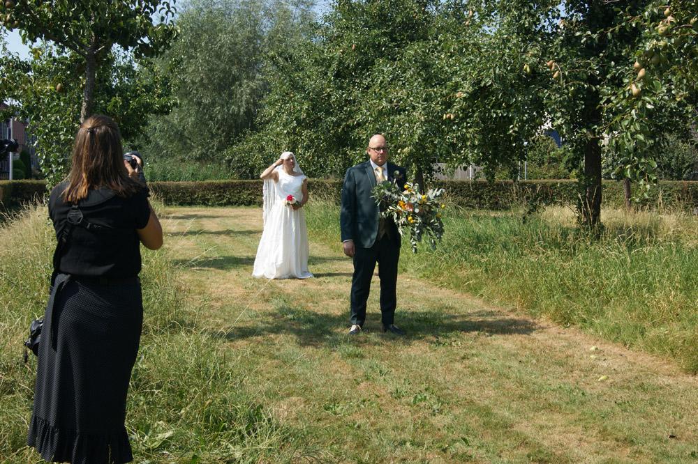 First look met de bruidegom