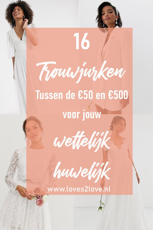 16 x trouwjurken tussen de €50 en €500 voor jouw wettelijk huwelijk.