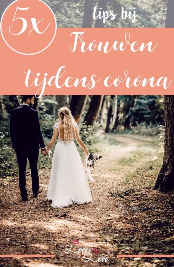 Trouwen tijdens corona: 5 x wat er nog wél kan. Wanneer je gaat trouwen tijdens een pandemie is er veel anders dan normaal. Maar toch zijn er nog steeds mogelijkheden om jouw bruiloft tot een geweldige dag te maken.